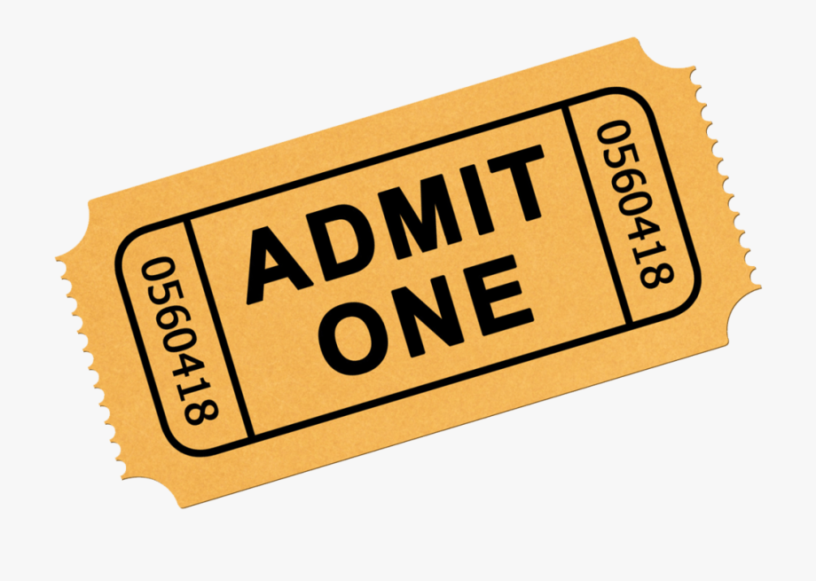 Admit one ticket clipart free clipart images gallery for.