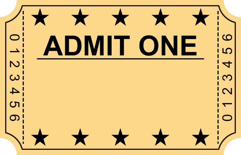 Tickets clipart entry, Tickets entry Transparent FREE for.