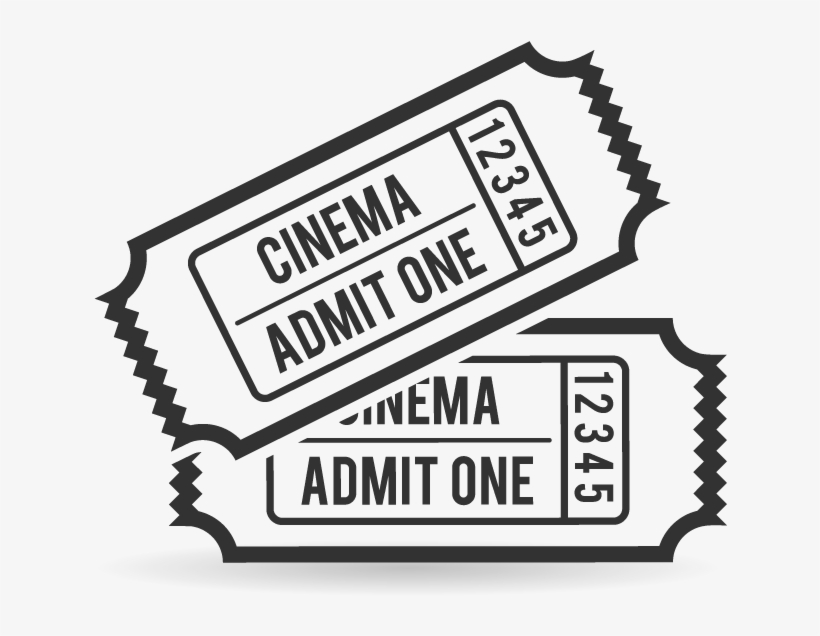 Clip Art Transparent Movie Ticket Clipart Black And.