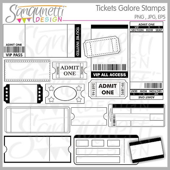 Tickets clipart, movie tickets, tickets for party.