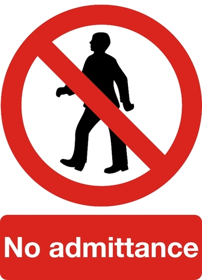 No Admittance SAFETY SIGNS Signs & Labels Camlab UK Clipart.