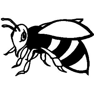 Hornet Black And White Clipart.