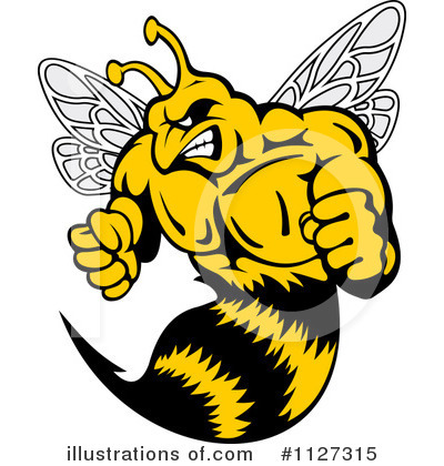 Angry Wasp Clipart.