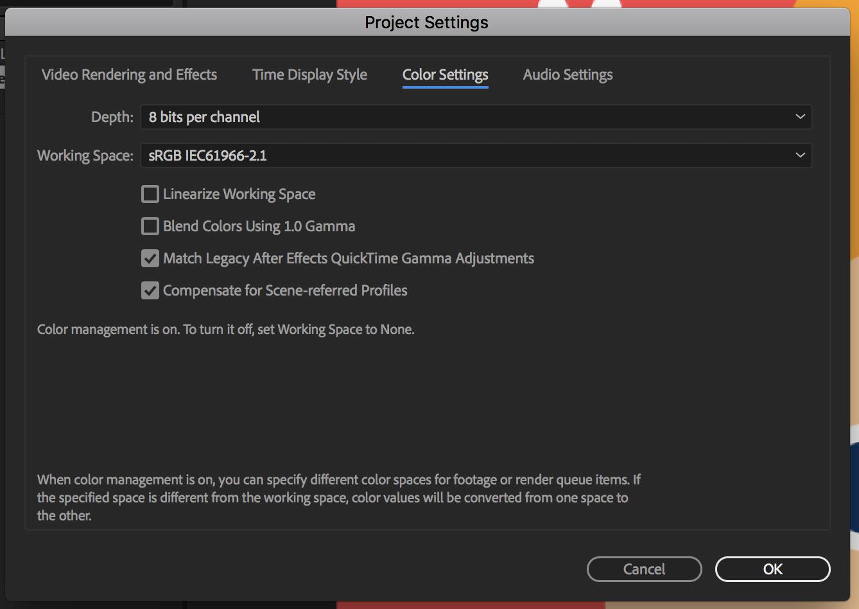 Solved: Slight color desaturation problem on export.