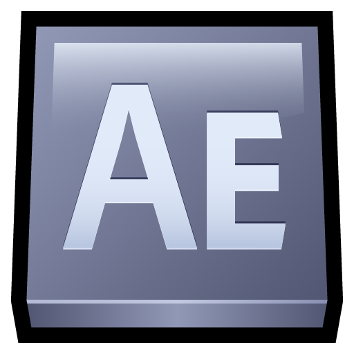 Adobe, after, effects icon.