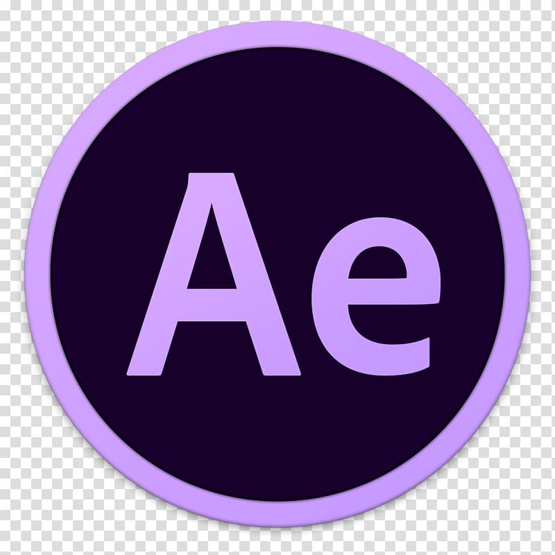 Adobe After Effect logo, purple symbol violet logo, Adobe Ae.