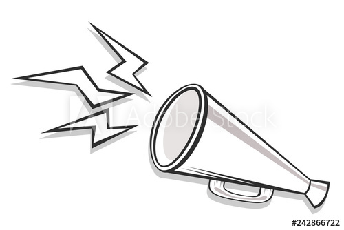 Loudspeaker, megaphone, bullhorn icon or symbol. Social.