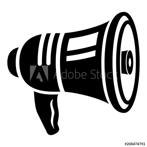 Bullhorn icon. Simple illustration of bullhorn vector icon.
