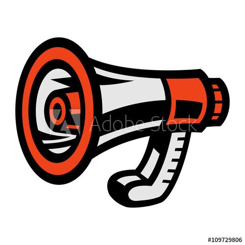 Megaphone Loudspeaker Bullhorn Announcement Alert.