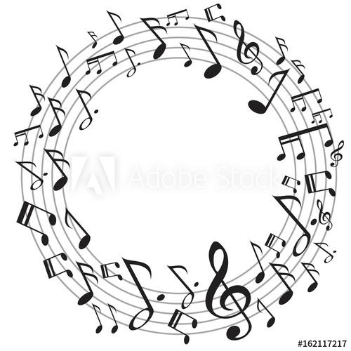 circle music notes.