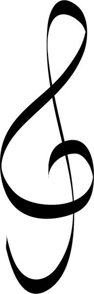 Treble clef music note Free vector in Adobe Illustrator ai.