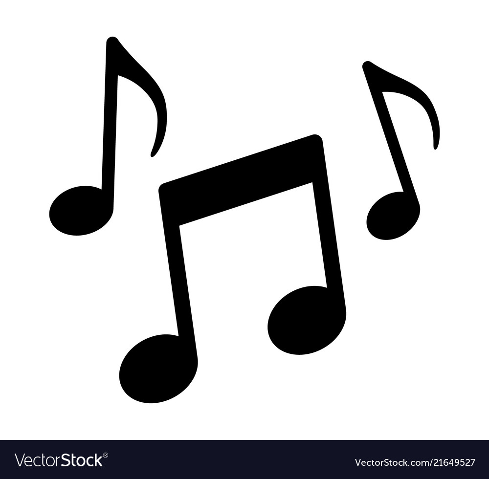 Music notes song melody or tune icon.