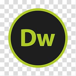 Circular Icon Set, Dreamweaver, DW icon transparent.