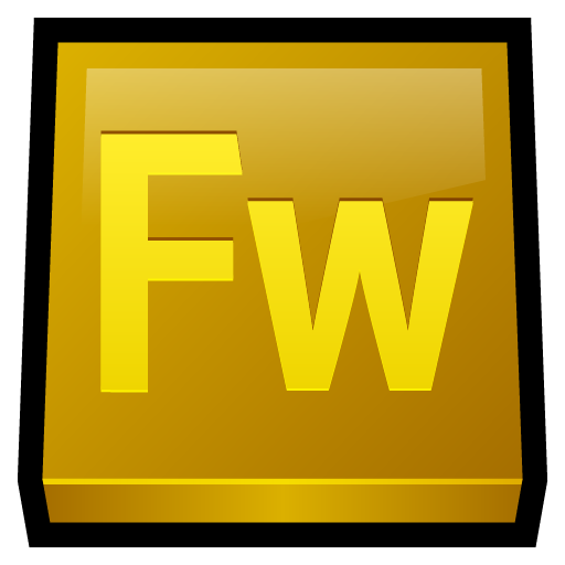 Adobe, fireworks icon.