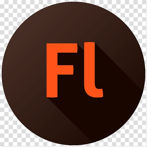 Orange Fl illustration, brand logo circle, Adobe Flash.