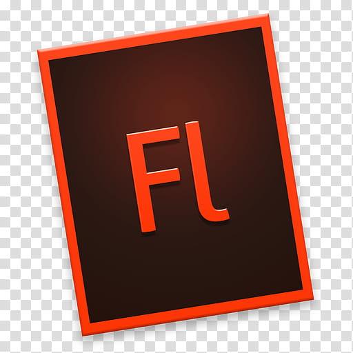 Adobe CC Tilt Rectangle, red Adobe Flash icon transparent.