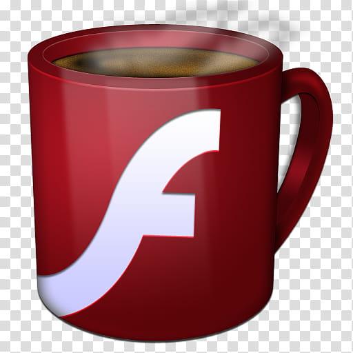 Insomniac Adobe, Flash Player icon transparent background.