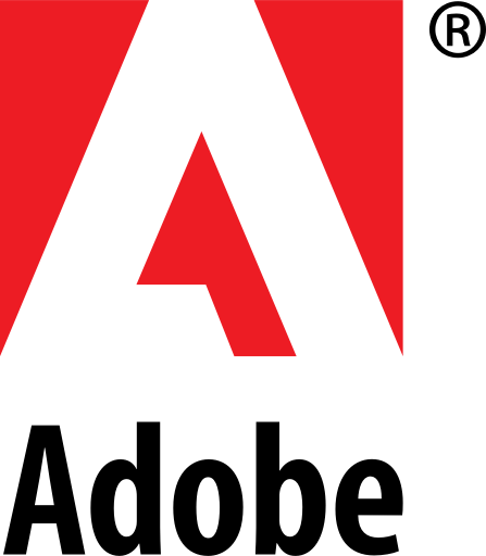 Adobe, logo, systems, wordmark icon.