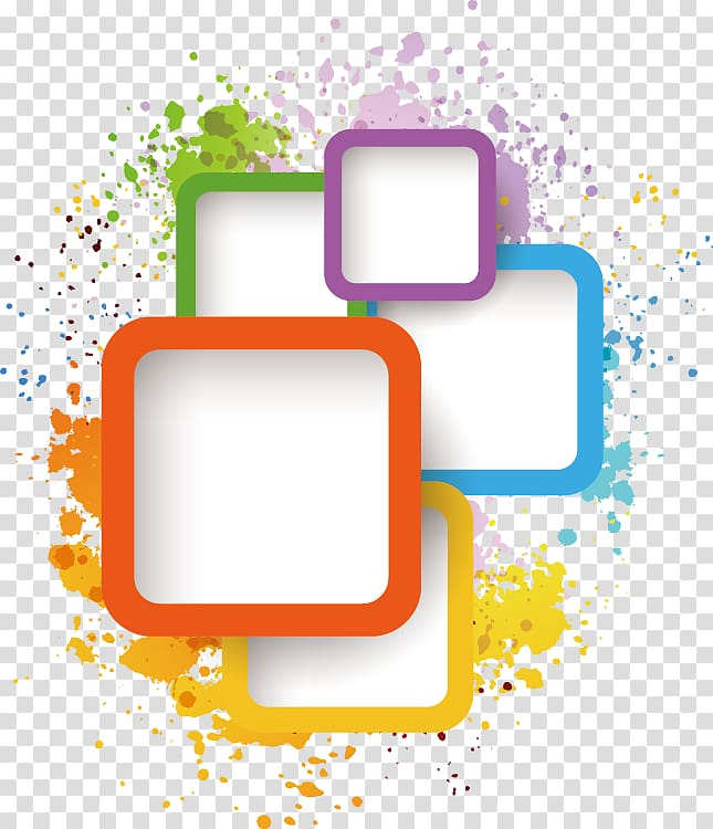Adobe Illustrator Illustration, Ink box element, assorted.
