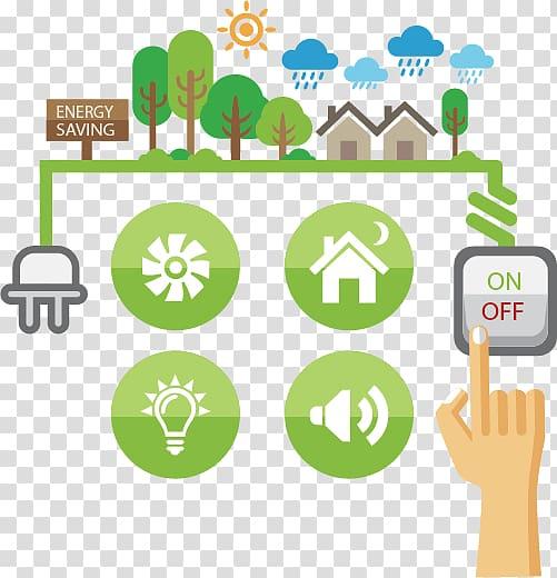 Energy saving illustration, Efficient energy use Energy.