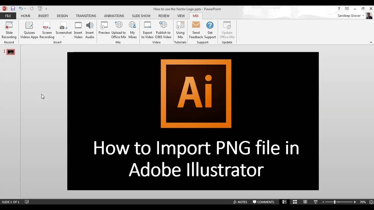 How to Import PNG file in Adobe Illustrator.