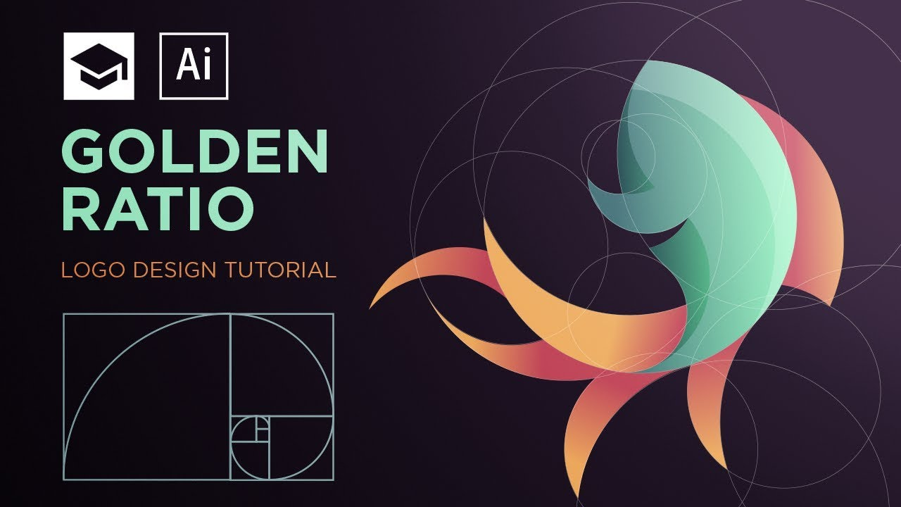 How to design a logo with golden Ratio #2.