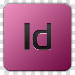 Icon , Adobe Indesign, square purple Id computer icon.