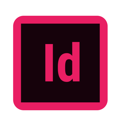 Adobe indesign Icon of Flat style.