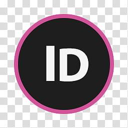 Circular Icon Set, InDesign, Adobe ID icon transparent.