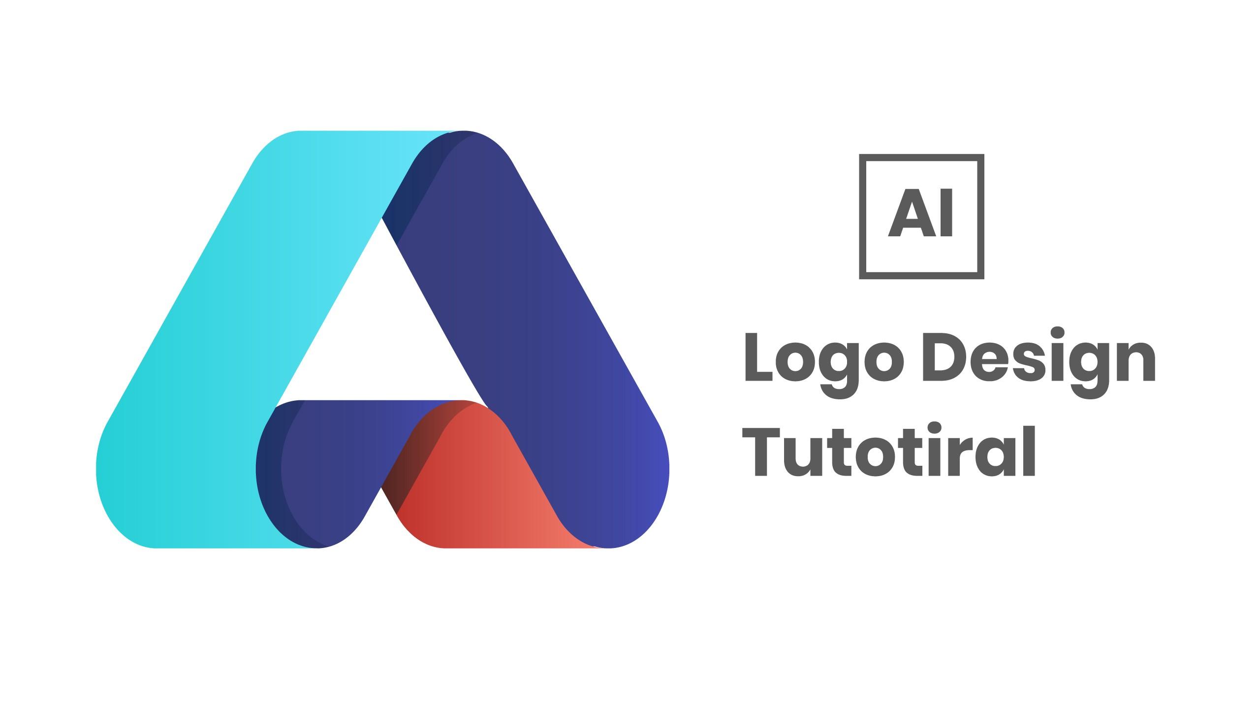 Letter A logo Design Tutorial in Adobe Illustrator.