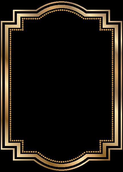 Border Frame Gold Transparent Clip Art.