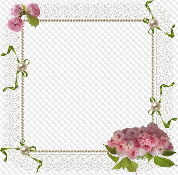 PSD, 5 PNG, Lace frames clipart with transparent background.