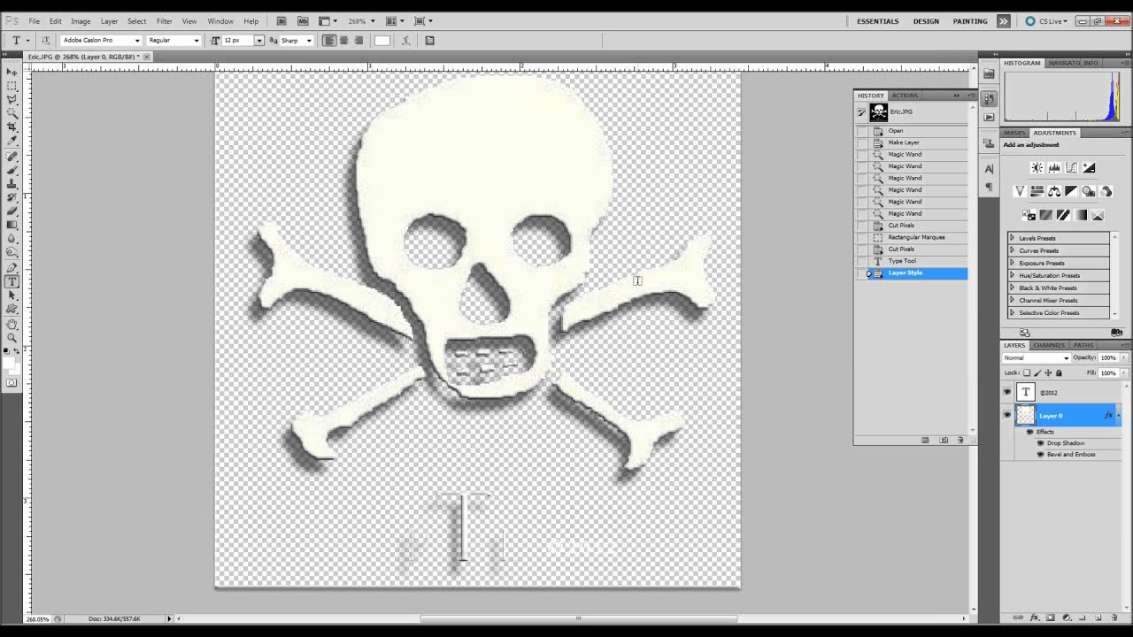 Creating a Logo from Clip Art with a Transparent Background in Adobe  Photoshop CS5.