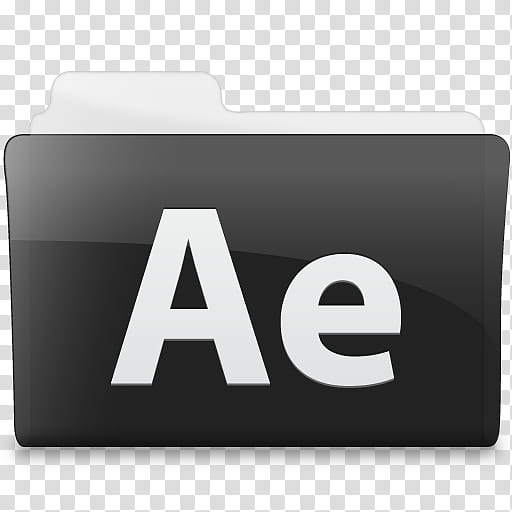 Black n White, Adobe After Effects folder icon transparent.
