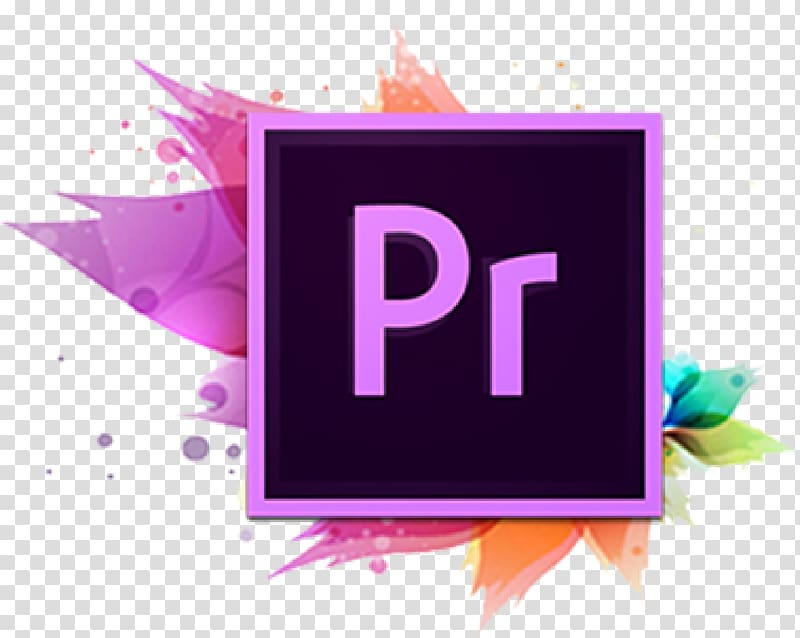 Adobe Pr logo illustration, Adobe Premiere Pro Adobe.