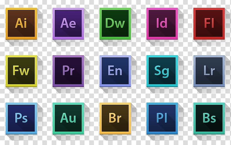 Assorted Adobe logos, Template Infographic Icon, Adobe\\\'s.
