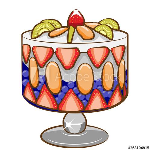 trifle vector clipart.