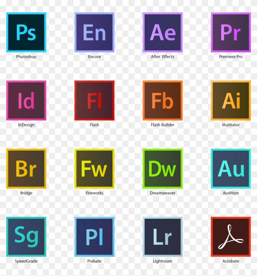 Pack Icônes Adobe Suite Cc Hd⎪vector Illustrator Company.