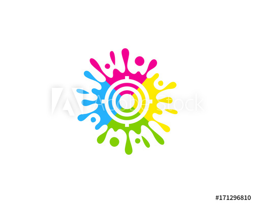 Paint Target Icon Logo Design Element.