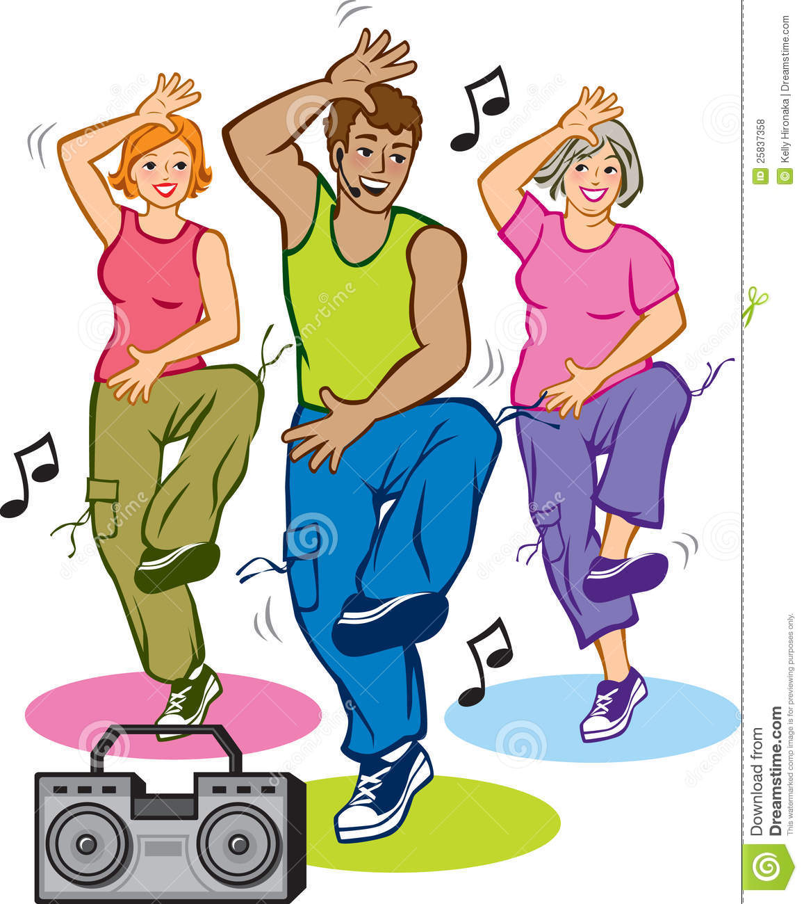 Dance Exercise Clipart.