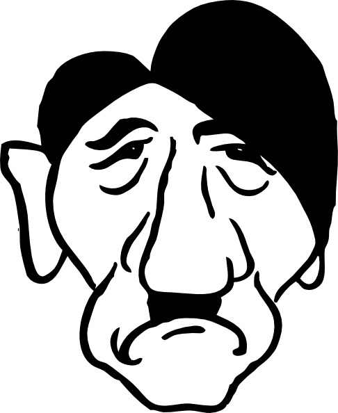 Adolf Hitler clip art Free vector in Open office drawing svg.