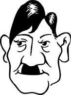Adolf Hitler clip art Free Vector.