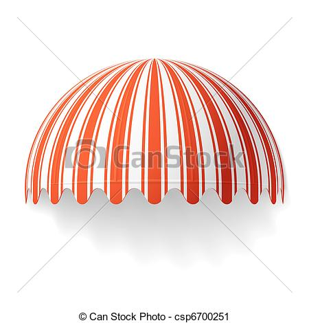 Vector Clip Art of Dome awning.