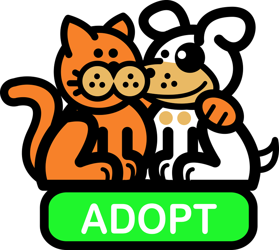Pet adoption clipart.