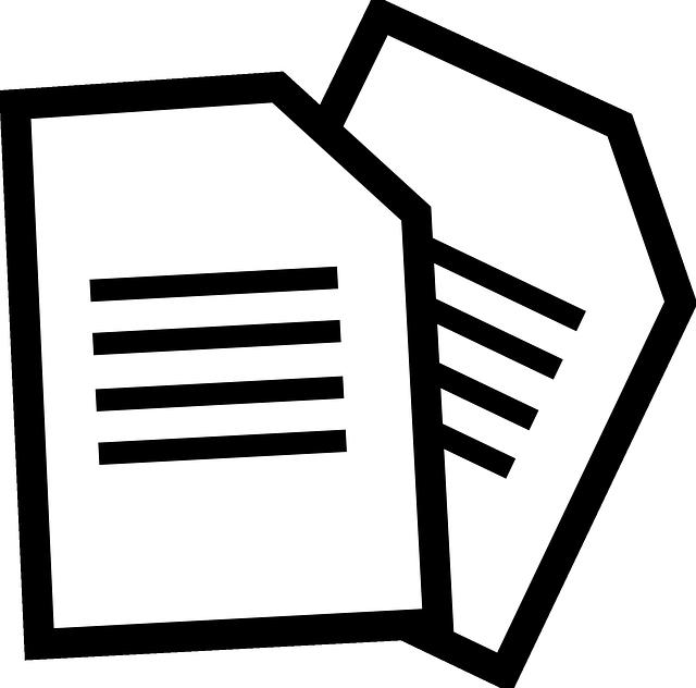 Clipart paper document, Clipart paper document Transparent.