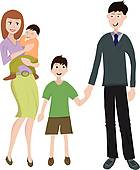 Clipart of Married Couple International Adoption k15276503.