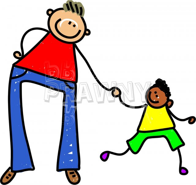 Toddler Art Father and Son Prawny Clip Art.