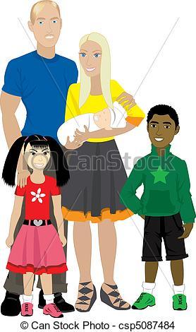 Adoptive Family Clip Art.