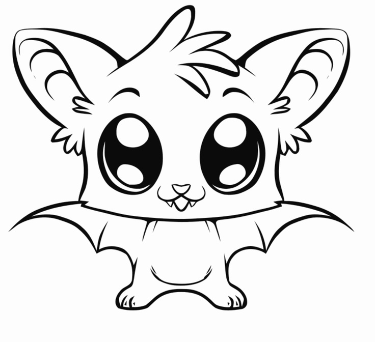 Cute Baby Animal Coloring Pages.
