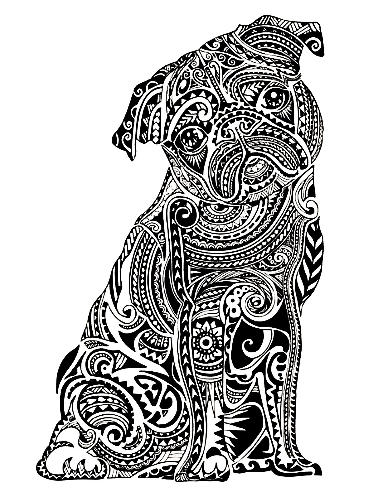 adorable animals clipart coloring pages difficult to color ...